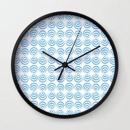 Optical pattern 108 blue circle Wall Clock
