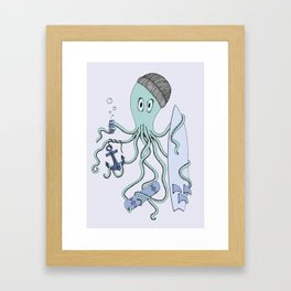 Octopus dude Framed Art Print
