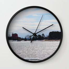 House Across the Water Wall Clock
