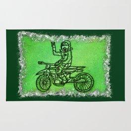 Peace Rider - Dirt Bike Racer Rug