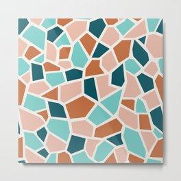 Elegant and Lovely Terrazzo Mosaic Metal Print