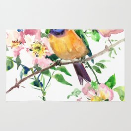 Bee-Eater and Rosehip Rug