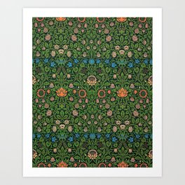 William Morris - Violet And Columbine - Digital Remastered Edition Art Print