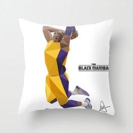 The Black Mamba Throw Pillow