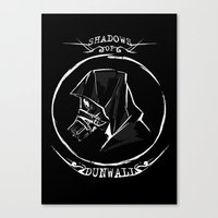 dishonored Canvas Prints featuring Shadows of Dunwall by vicious mongrel