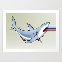 Rainbow Shark Art Print
