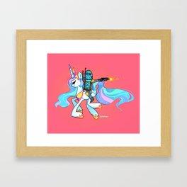 Hunting for Friendship. Framed Art Print