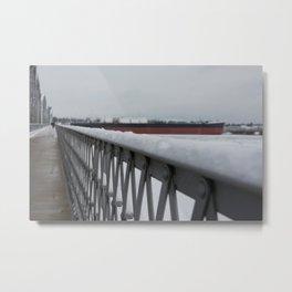 Snow-capped Bridge Metal Print