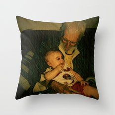4 generations  Throw Pillow