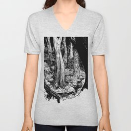 In the Forest Unisex V-Neck