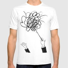 downbeat??  find my beat! Mens Fitted Tee MEDIUM White
