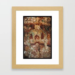The last judgment hell by francesco Traini campo santos Pisa Italy Framed Art Print