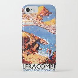 Werbeplakat Ilfracombe iPhone Case