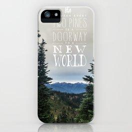 Between Two Pines iPhone Case