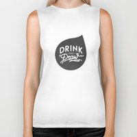logo Biker Tanks featuring Logo by drinkanddrawmilano