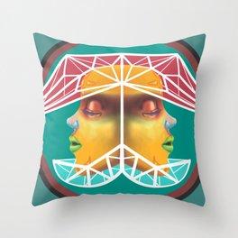 Dual Heads Throw Pillow