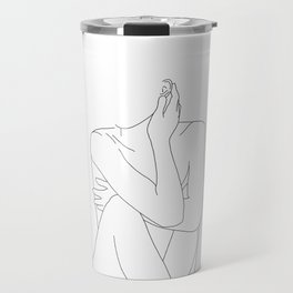 Nude life drawing figure - Celina Travel Mug