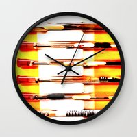 kit king Wall Clocks featuring Eyeglasses Kit by Jeffrey J. Irwin