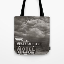Western Hills- Black and White Tote Bag