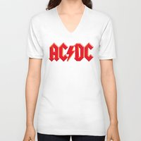 acdc V-neck T-shirts featuring ACDC by loveme