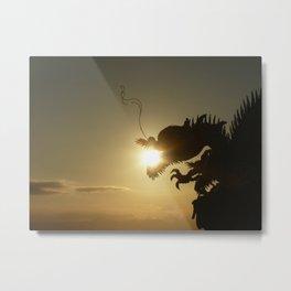 Dragon Orb Metal Print