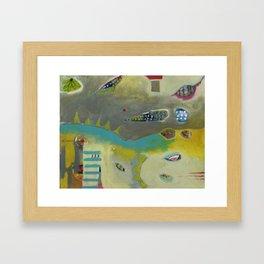 Bee Festive Framed Art Print