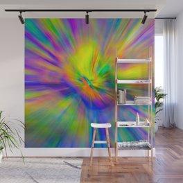 Hallucinogenic Light Painting Wall Mural