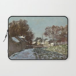 Snow at Argenteuil Laptop Sleeve