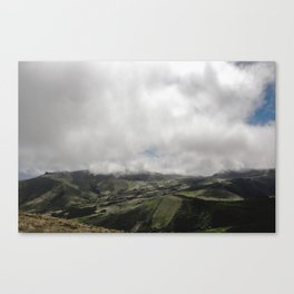 Farm Up In The Clouds Canvas Print