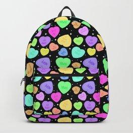 Sassy Kawaii Pastel Goth Candy Hearts Backpack