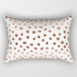 Rose Gold copper sparkle modern dots polka dots rosegold trendy pattern cell phone accessories Rectangular Pillow