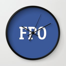 For Placement Only - FPO - Artwork (Facebook Blue) Wall Clock