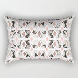 Modern Marble Rose Gold Blush Pink Geometric Rectangular Pillow