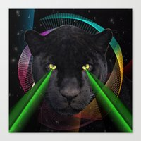 panther Canvas Prints featuring Panther by mark ashkenazi