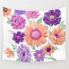 Blooms Blooms Blooms Wall Tapestry