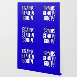 Brains Beauty Booty - Blue Wallpaper