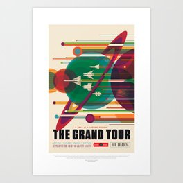 Retro Space Poster - The Grand Tour Art Print