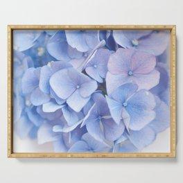 Blue Hydrangeas #3 #decor #art #society6 Serving Tray
