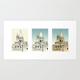 Fisherman's Bastion - Budapest - Hungary Art Print