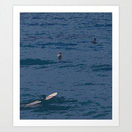 abstract surf Art Print