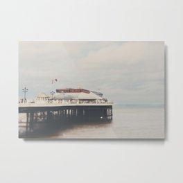 Cromer pier photograph Metal Print