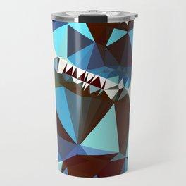 bluebrown abstract Travel Mug