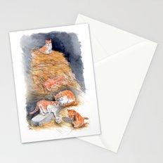 Orange Kittens in Hay Stationery Cards