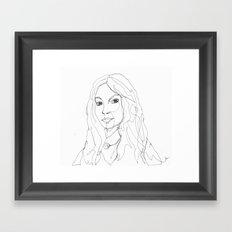 1line - Valentina Framed Art Print