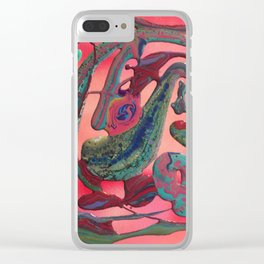 Abstract flow #1 Clear iPhone Case