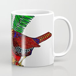 Little Bird In Evergreen Boughs Coffee Mug