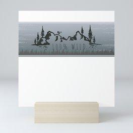 100% Wild Line Mini Art Print