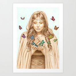 The Butterfly Girl Art Print