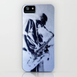 Sax Music Poster iPhone Case