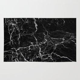 Marble Black Grunge texture Rug